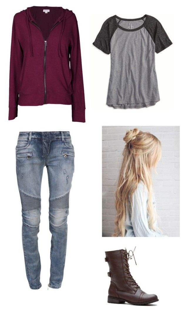 """Simplicity"" by rainbowchanrawr on Polyvore featuring American Eagle Outfitters, Velvet by Graham & Spencer and Balmain"
