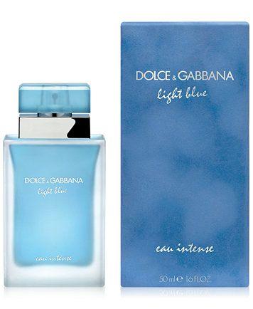 Dolce Gabbana Dolce Gabanna Light Blue Eau Intense Eau De Parfum Spray 1 6 Oz Reviews All Perfume Beauty Macy S Luxury Perfume Eau De Parfum Essential Oil Fragrance