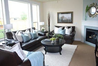 Image Result For Black Couch With Blue Pillows Brown And Blue