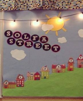 Solfa Street: Slides and Bulletin Board Printables - perfect for introducing solfege to your elementary music classes.