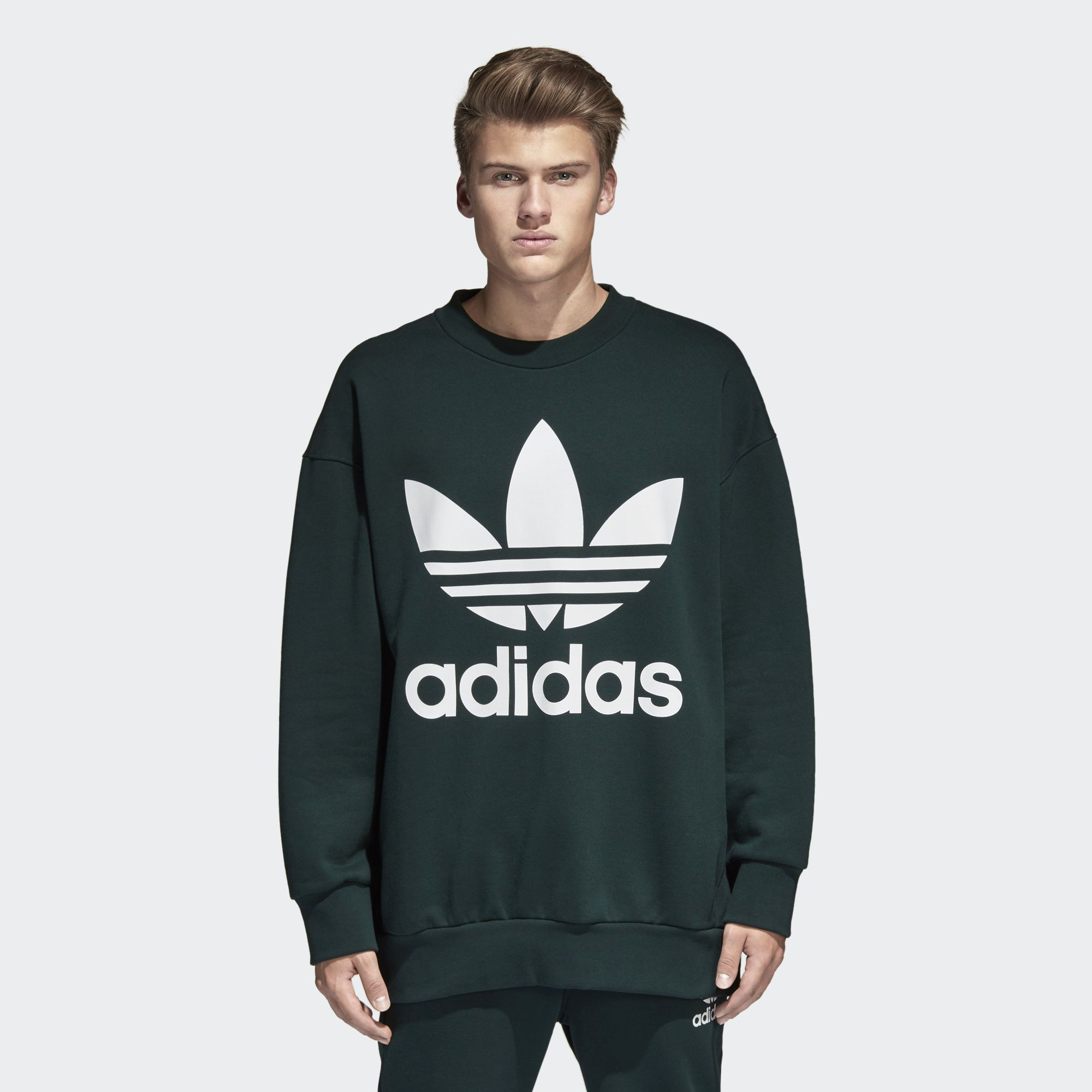 Transforming A Basic Essential Into A Modern Fashion Forward Design This Men S Sweatshirt Is Crafted Of Soft Prem Adidas Sweater Mens Sweatshirts Sweatshirts [ 2000 x 2000 Pixel ]