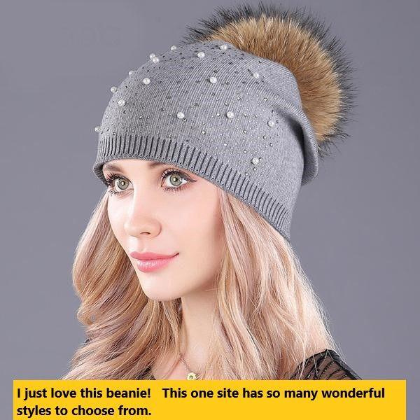 00cfe3d56598a Women s Beanie Cashmere Acrylic Pom Pom Genuine Raccoon Fur Fits to Casual  wear Autumn   winter Navy