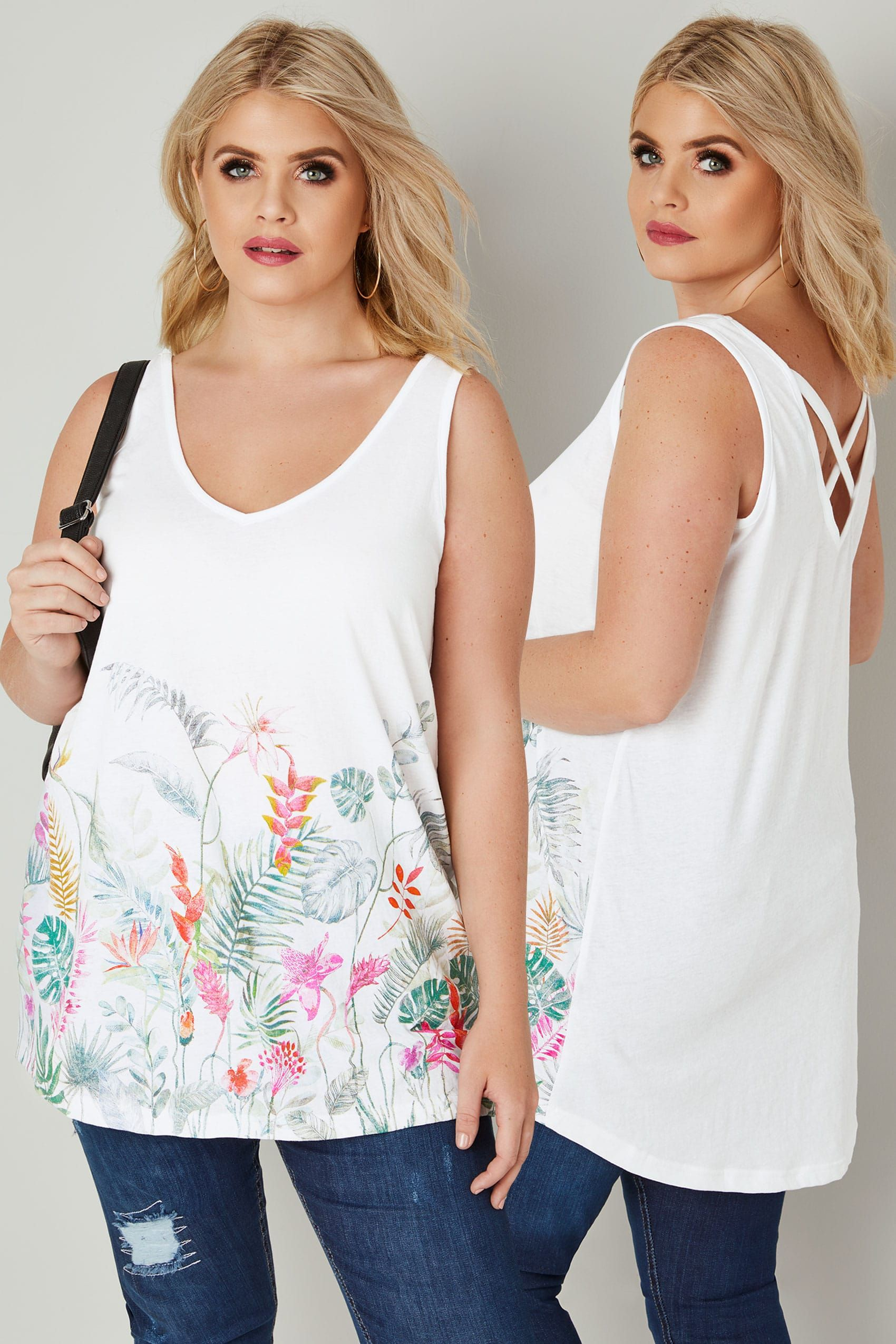 White Cami Vest Top | Yours Clothing