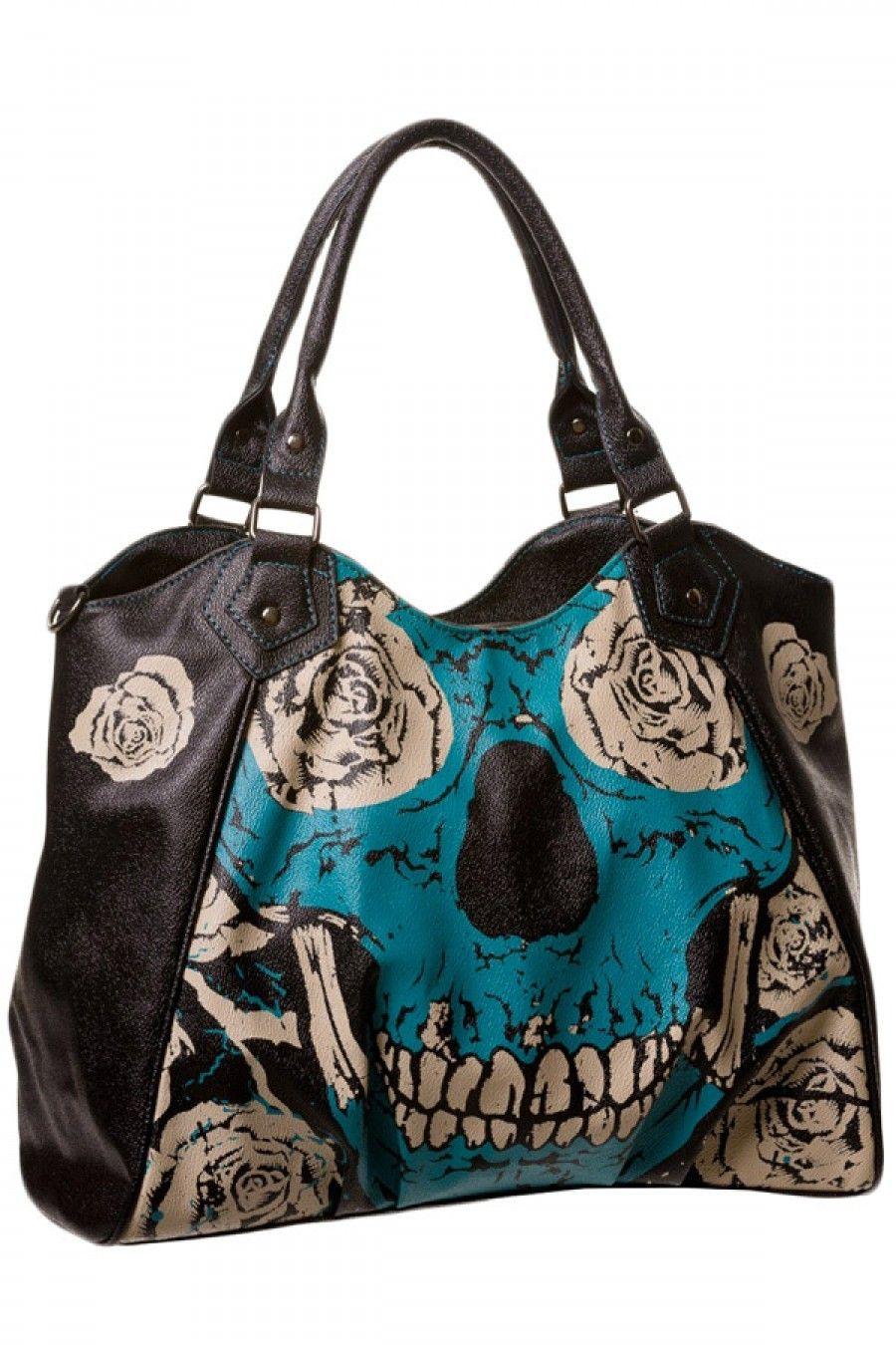 31536c9c0d55 Blue Skull Handbag - let me love you.