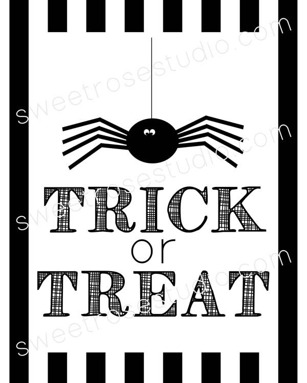 Trick Or Treat Free Halloween Prints  Halloween Prints Prints And
