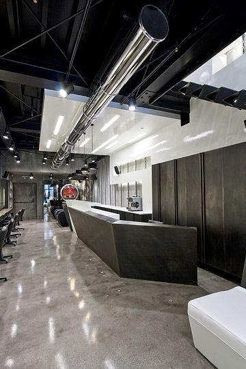 high tech hair salon retailing interior concept | hair salon