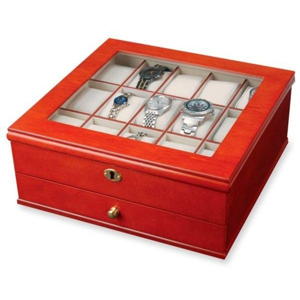 Chris Locking Watch Jewelry Box ($140) ❤ Liked On Polyvore