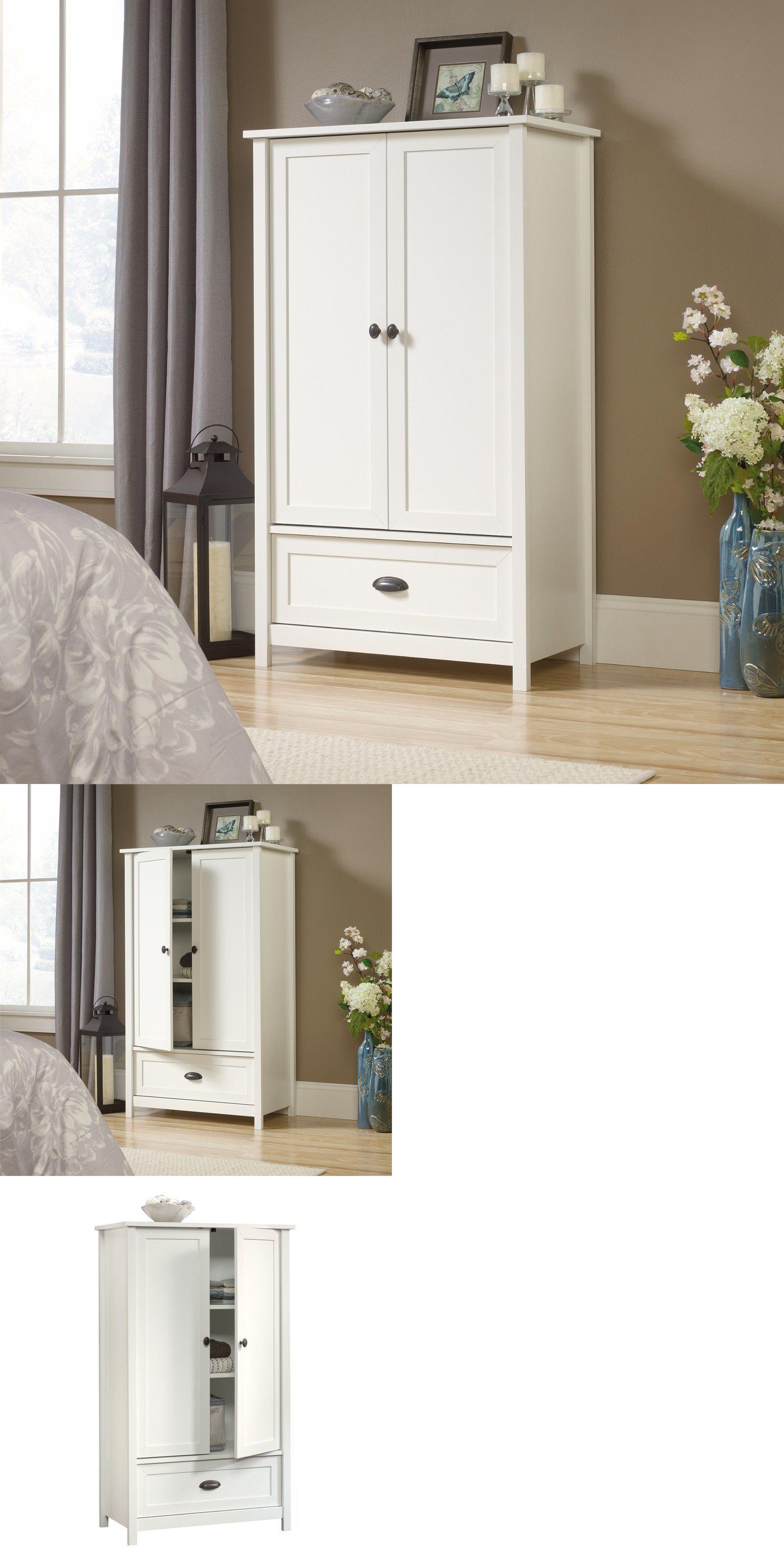 Armoires and wardrobes new white wardrobe closet storage