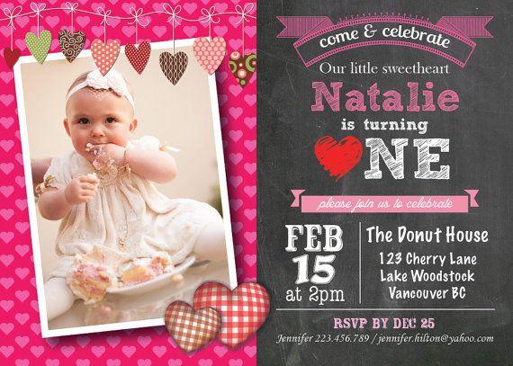 Printable Valentine Birthday Invitation Valentines Birthday Party