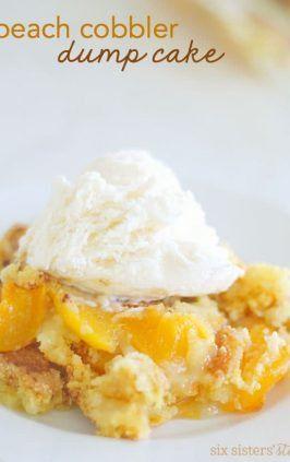 Peach Cobbler Dump Cake #peachcobblerpoundcake