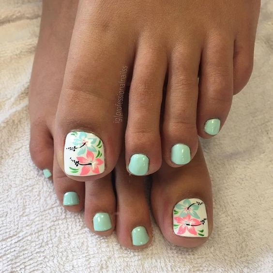 53 Summer Beach Toes Nail Designs For 2018