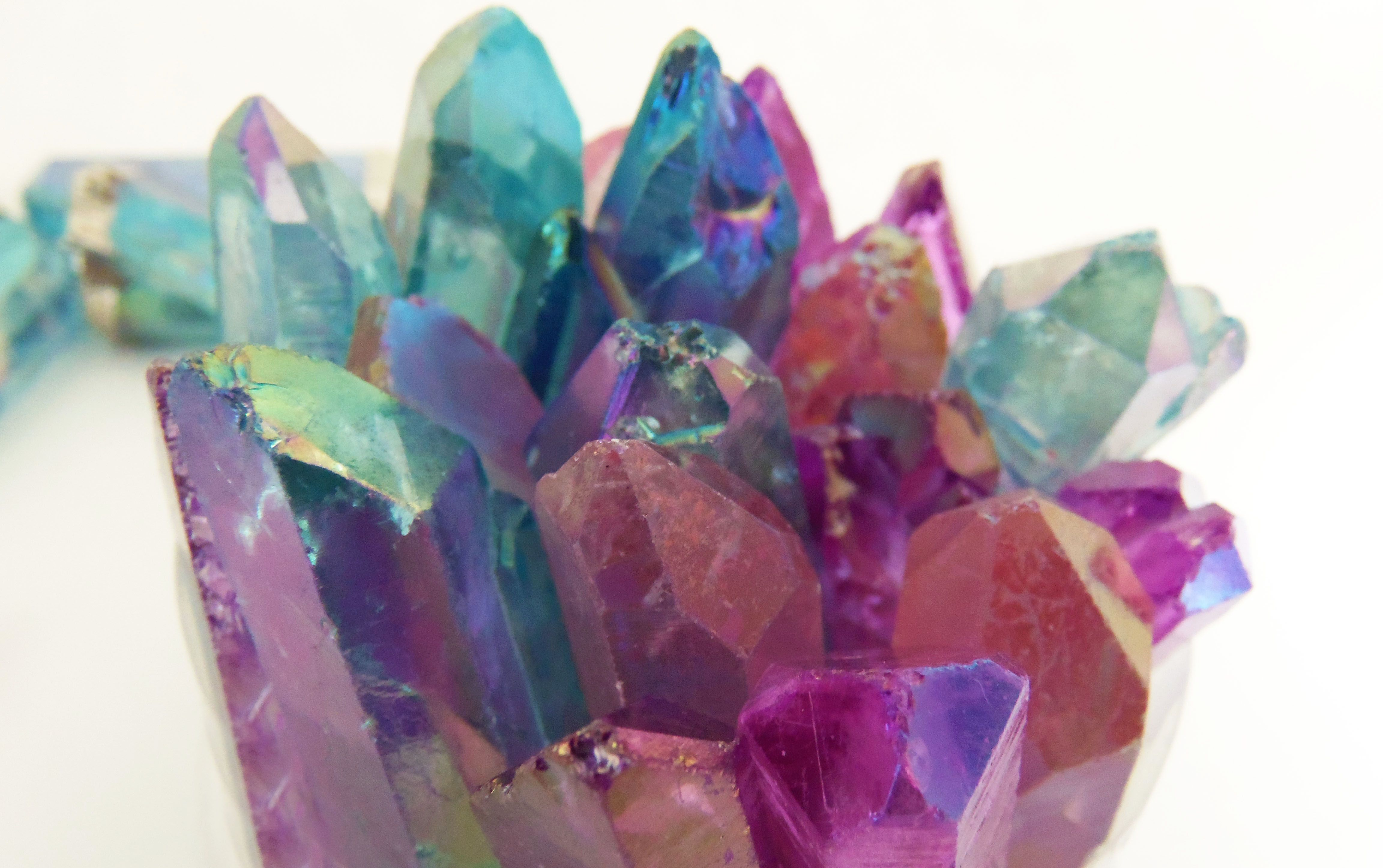 39df22239 angel aura quartz crystals, aqua aura crystal, aura pink rose quartz  crystal, purple aura crystal necklaces