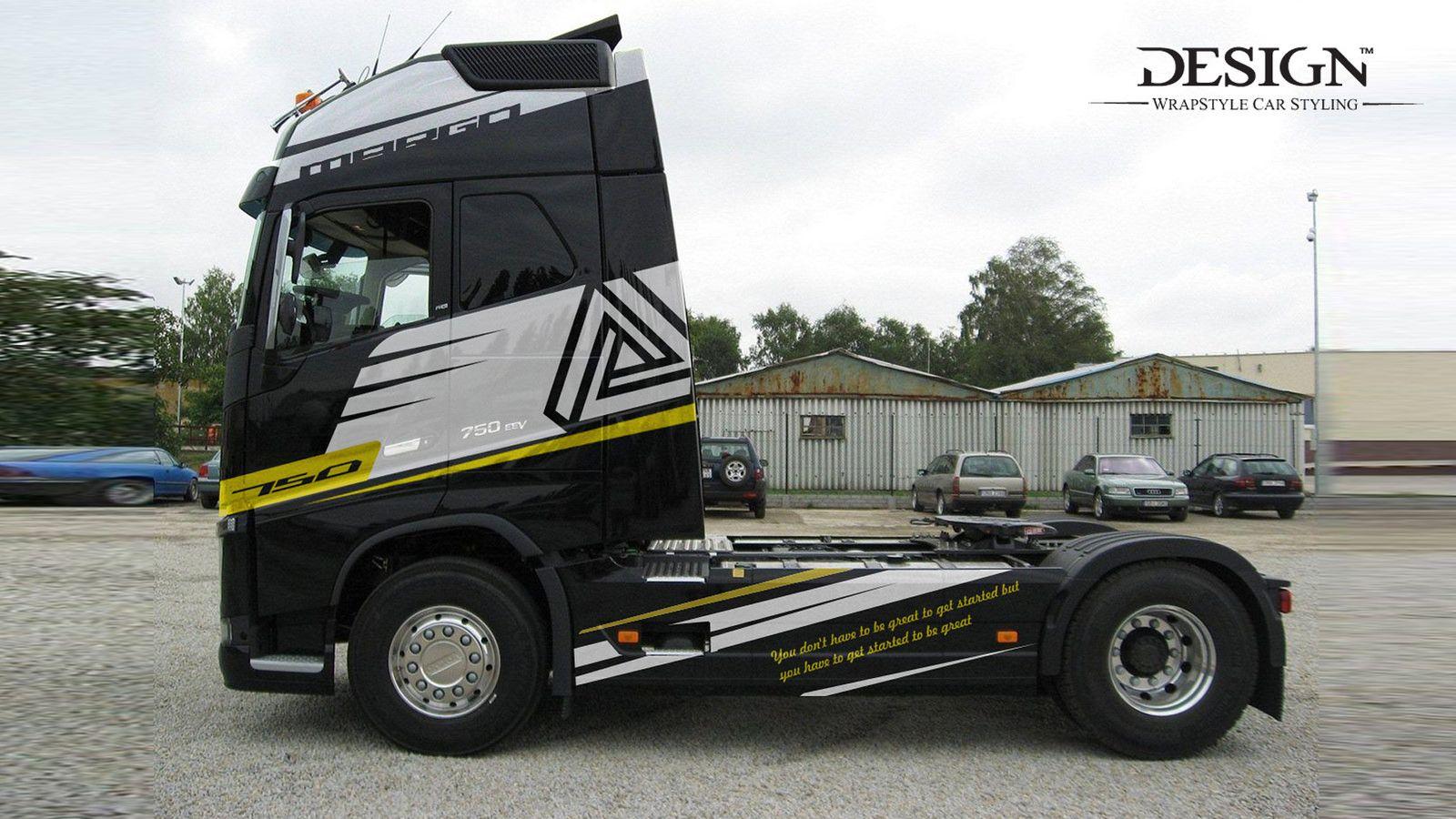 Volvo 750 03 Vehicle signage, Volvo trucks, Volvo