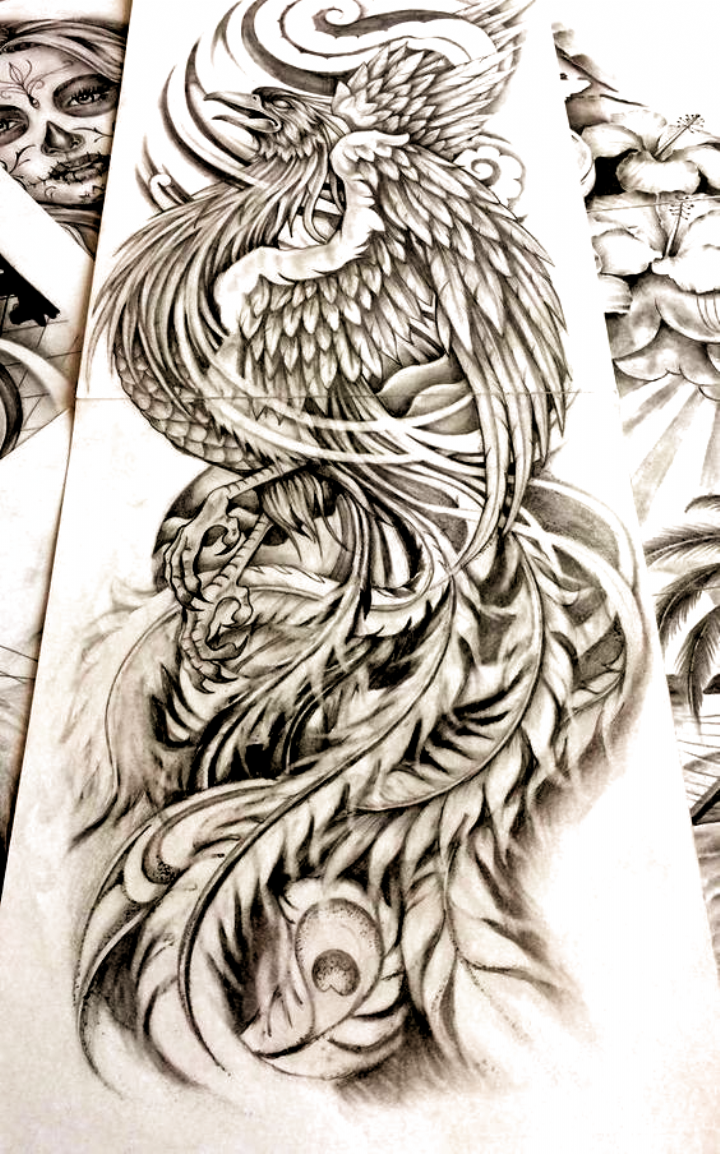 Black And Gray Tattoos Japanese Tattoo Letters Japanese Tattoo Letters Fire Borneotattoos Borne In 2020 Tattoo Design Drawings Phoenix Tattoo Japanese Tattoo