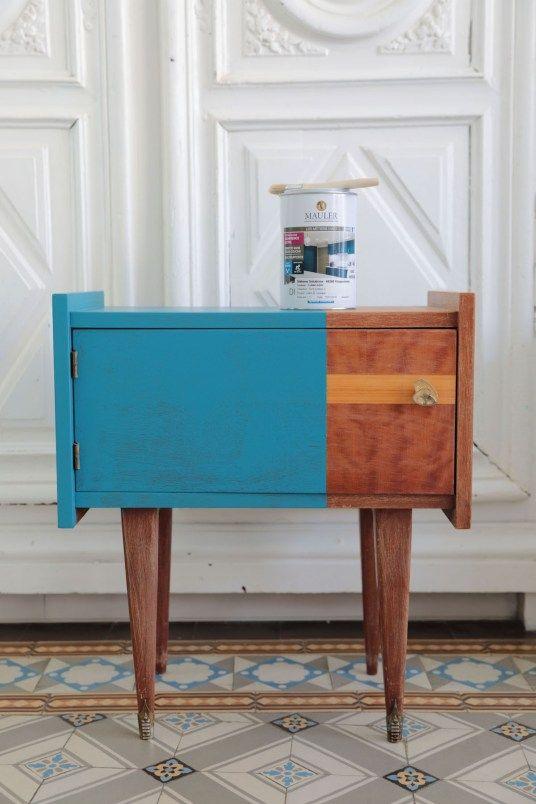 Repeindre un meuble vintage sans le décaper et sans sous-couche - Comment Decaper Un Meuble