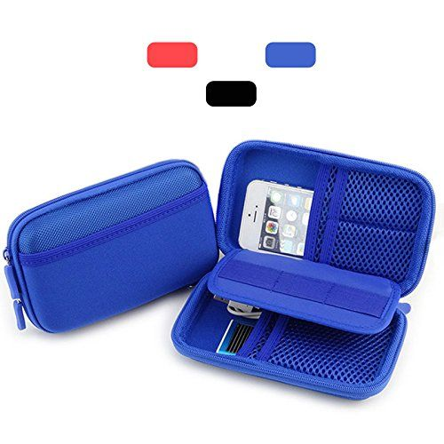 External Backup Hard Drive Case for 2.5 Inch Portable Ultra Slim Carrying Case