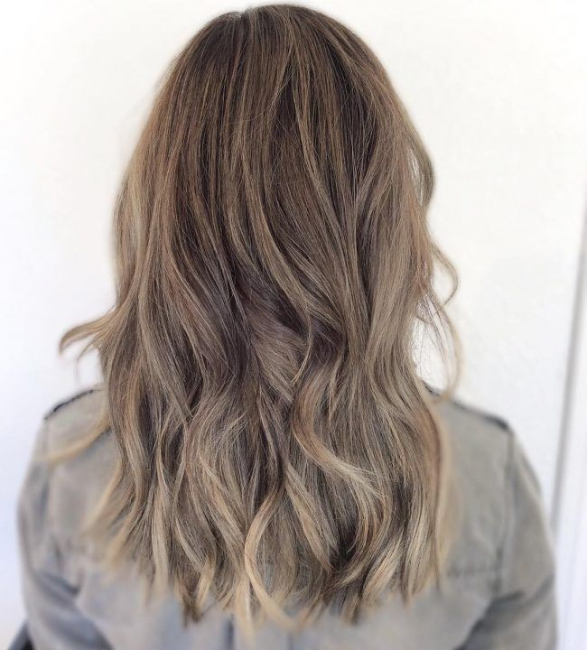 Ashy Bronde Balayage Light Brunette Hair Light Pink Hair Light