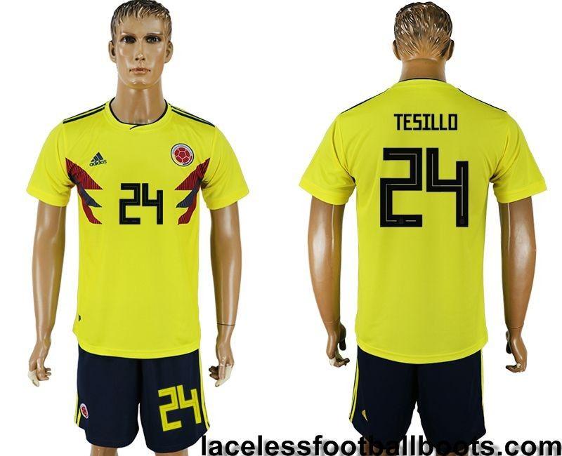 0594993c5 Adidas Tesillo William 24 Colombia 2018 Home Football Kits Yellow Black  visit us http