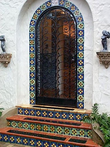 Arch Door Entry Spanish Style Homes Spanish House