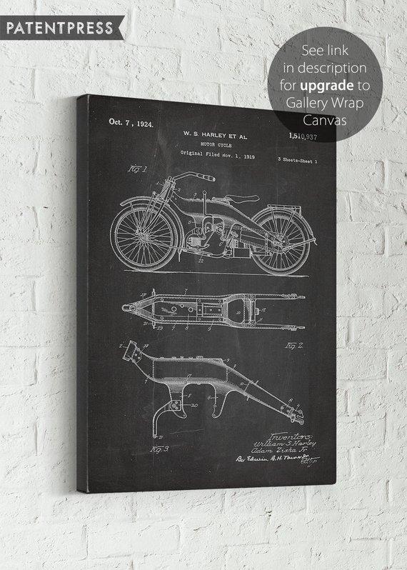52cfa2c962 Harley Davidson Gift for Men Motorcycle Gift for Dad Biker Gift for Him  Harley Davidson Decor Vintag