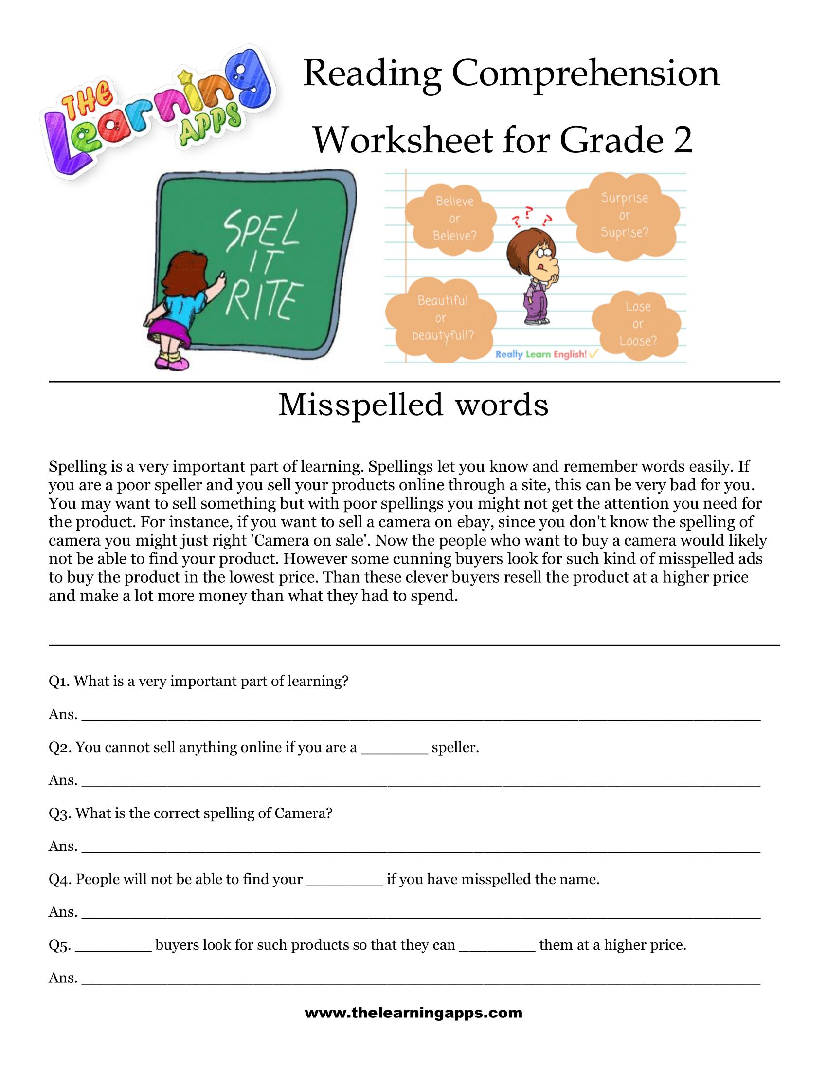 2nd Grade Reading Comprehension Printable Reading Comprehension Worksheets Free Reading Comprehension Worksheets Comprehension Worksheets [ 2200 x 1700 Pixel ]