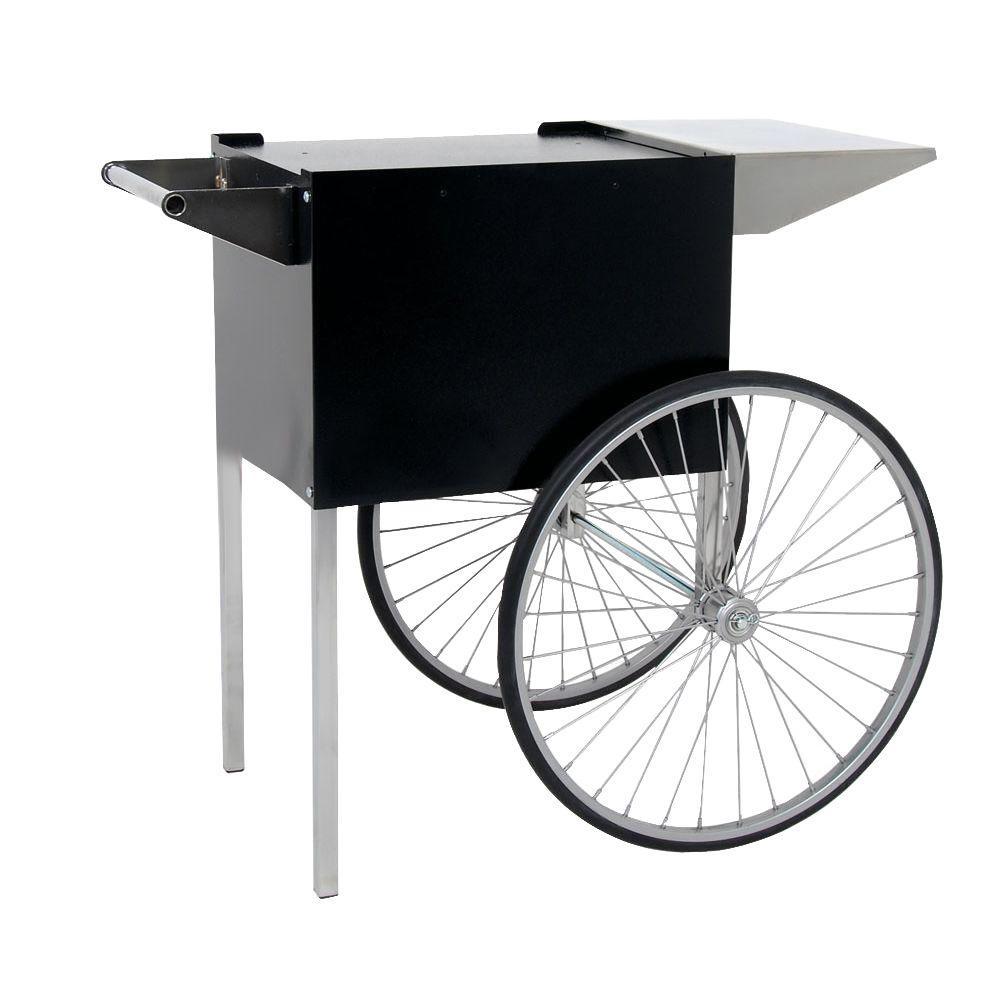 Professional 6 oz. Medium Popcorn Cart in Black, Black/Textured