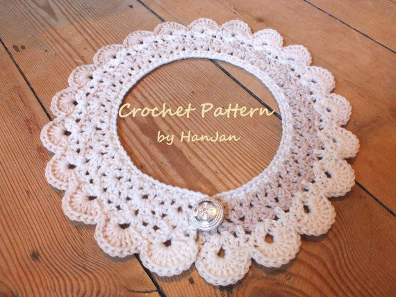 Instant Download PDF Crochet Pattern: Pretty Peter Pan Neck Collars ...