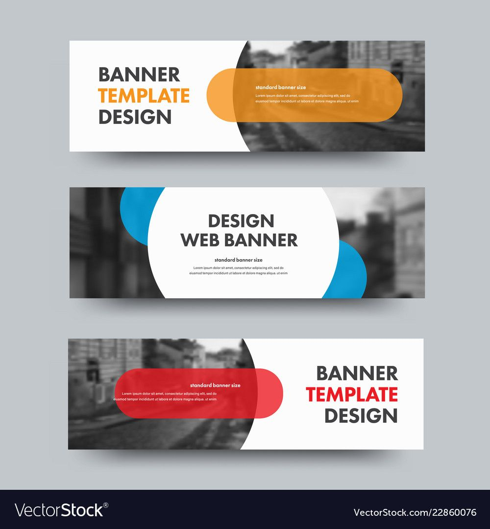 Template Of Horizontal Web Banners With Round And Inside Product Banner Template Best Sample Template Web Banner Banner Template Web Banner Design