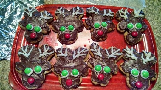 Chocolate chip reindeer!