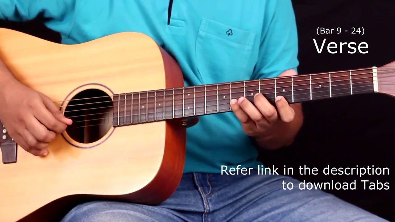 Raabta Title Song Guitar Tabs Lead Lesson Tutorial Cover
