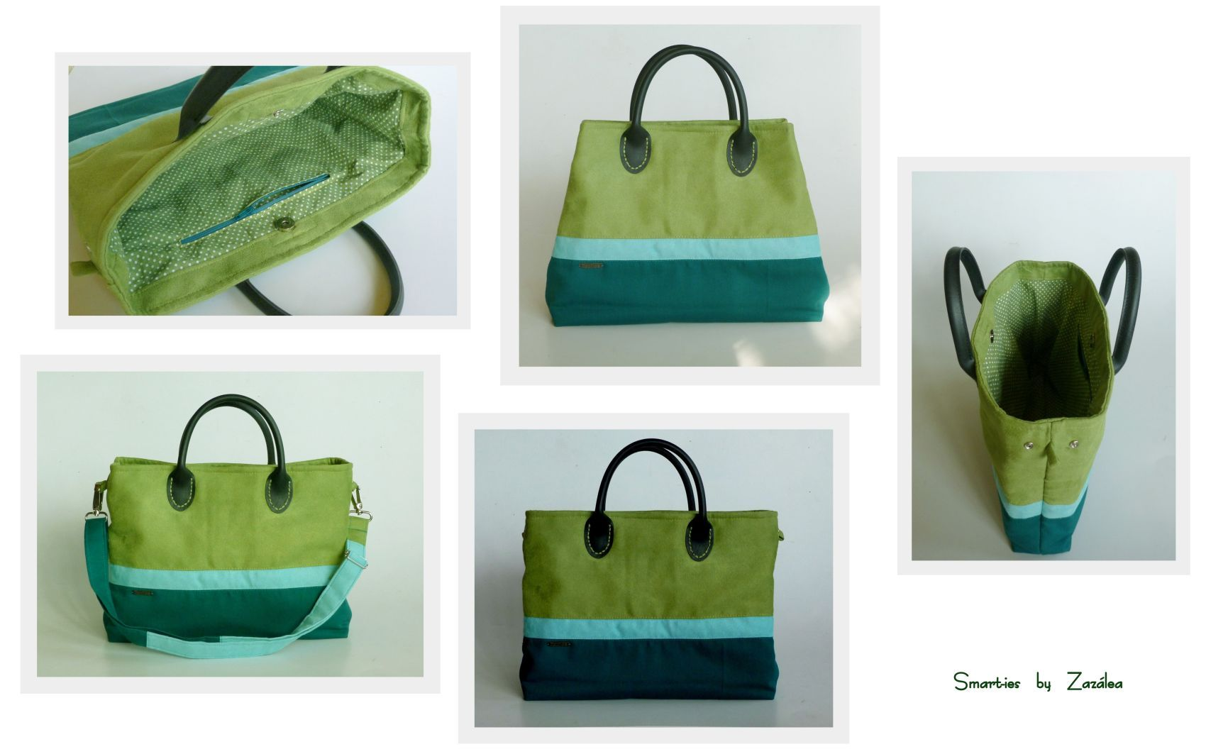 Smarties bag - in greens. And in love of course.
