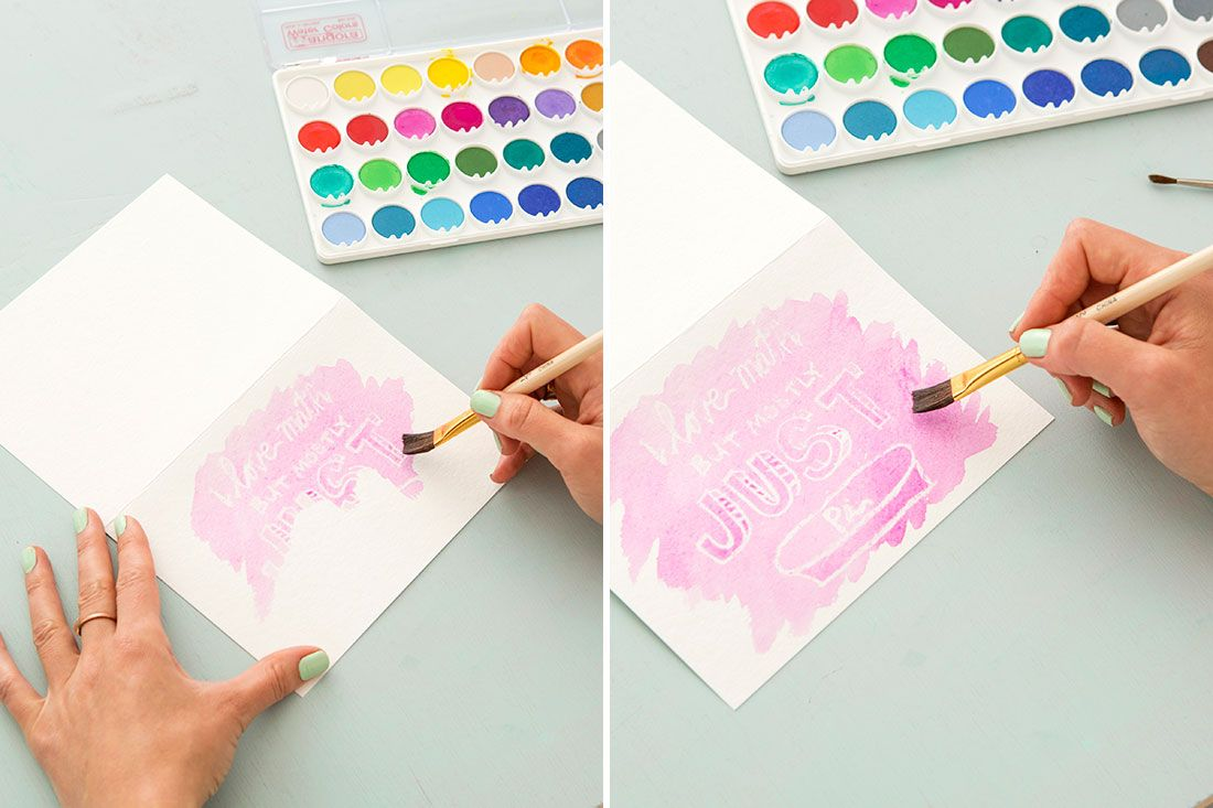 Follow this tutorial to make watercolor cards.