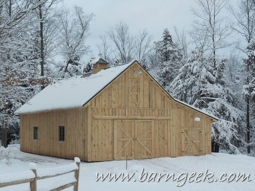 These 30x40 Gable Barn Plans Are Great For The Small Horse