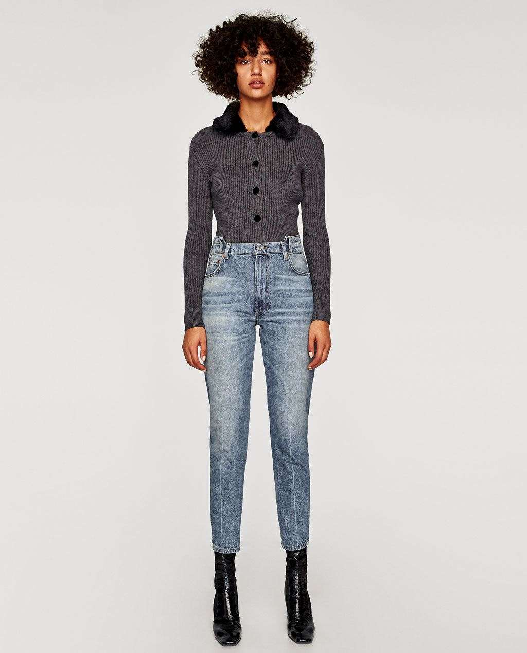 30ff1f38 Image 1 of THE RECONSTRUCTED VINTAGE HIGH WAIST JEANS from Zara ...