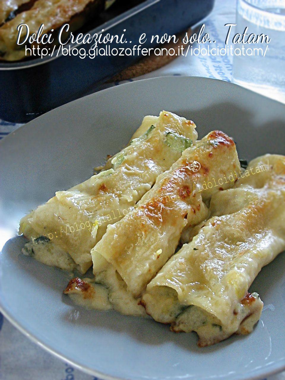 Cannelloni in bianco con verdure e gorgonzola primi piatti pinterest risotto quinoa riz - Cuisine italienne cannelloni ...