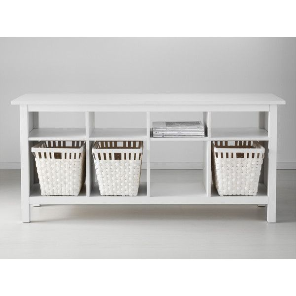 Ikea Hemnes Sofa Table White Stain 199 Liked On Polyvore Featuring Home Furniture Tables Accent Tables Ikea Room Divider Ikea Console Table Ikea Home