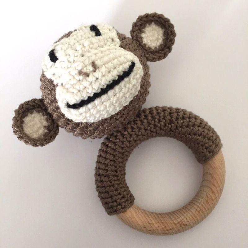Gehaakte Rammelaar Aap Apen Pinterest Crochet Baby Amigurumi