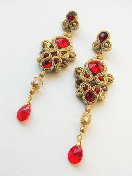 f1ef9e08fba9 Royal Red soutache earrings