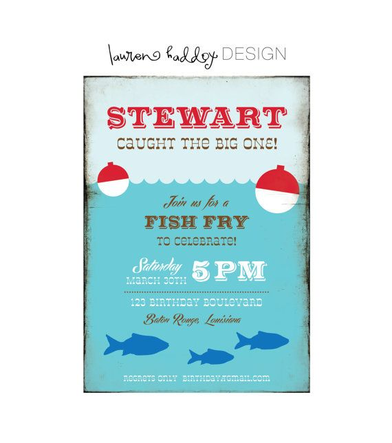 Gone Fishing Invitation Also a pic of a supercute and simple