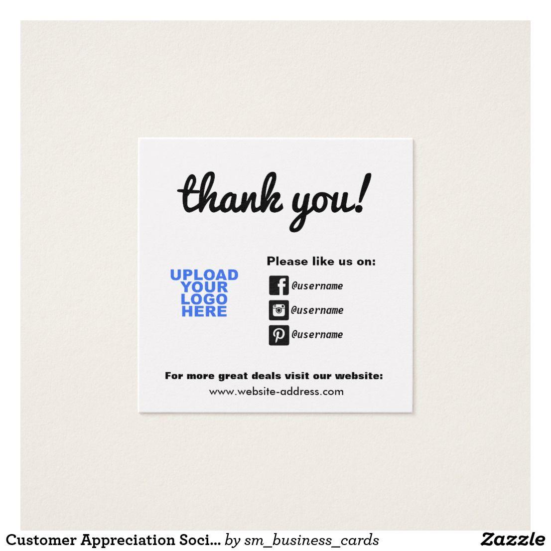 Customer Appreciation Social Media Icons