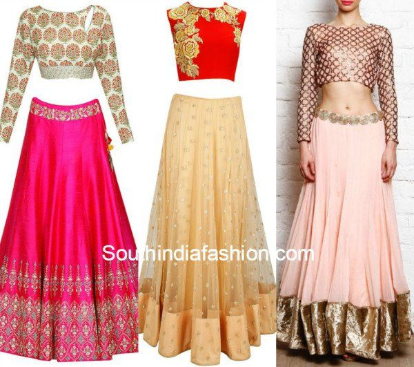 b2720a147c Wedding Trend - The Crop Top & Lehenga! | Crop Top/Skirt | Lehenga ...