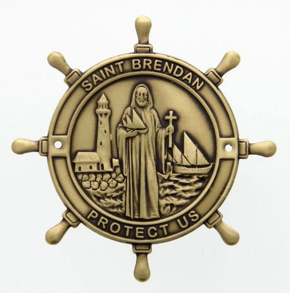 ST CRISTOPHER KEEP SAFE PIN BADGE NEW