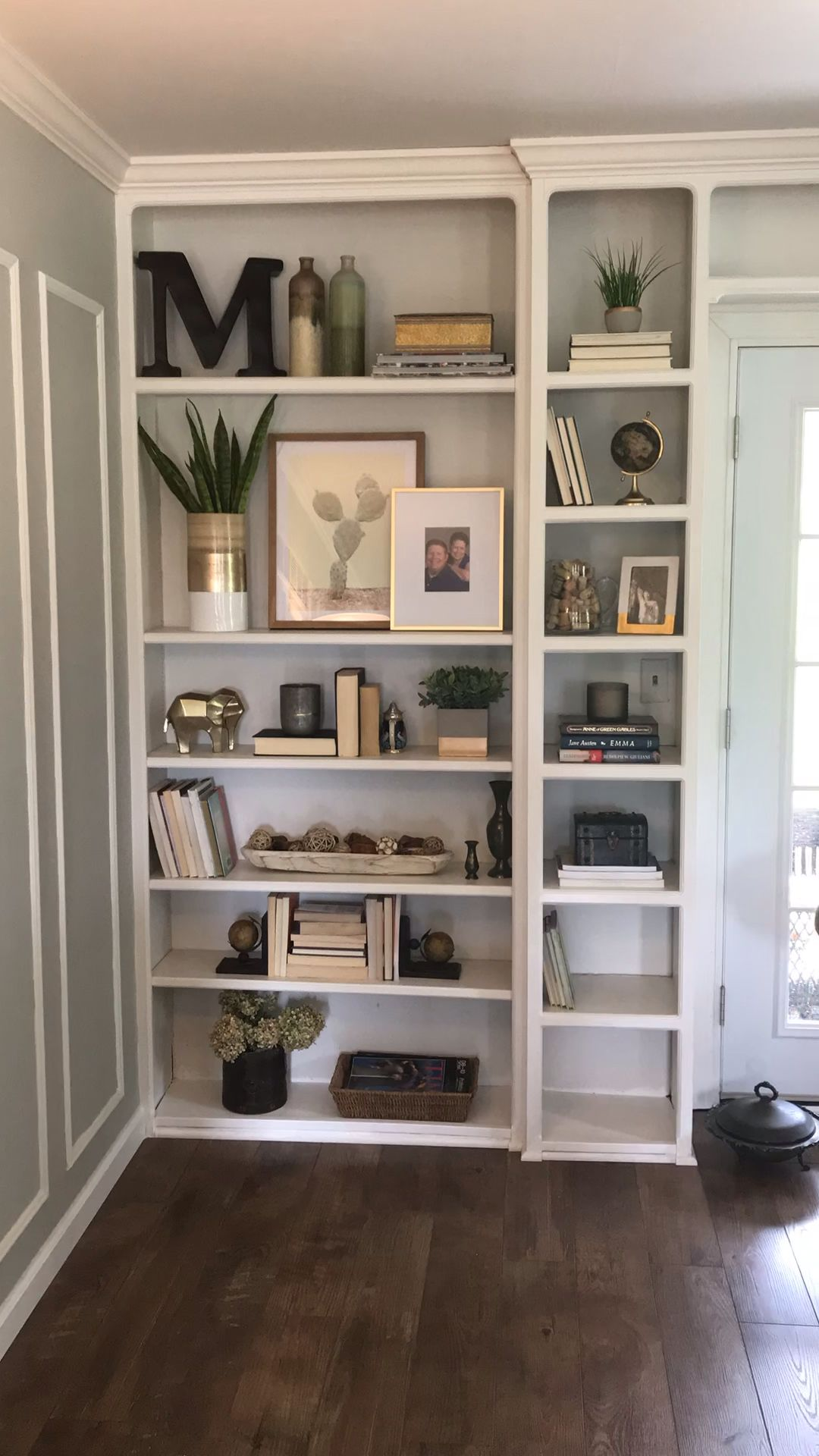 Bookshelf Styling by The Chic(ish) Chick