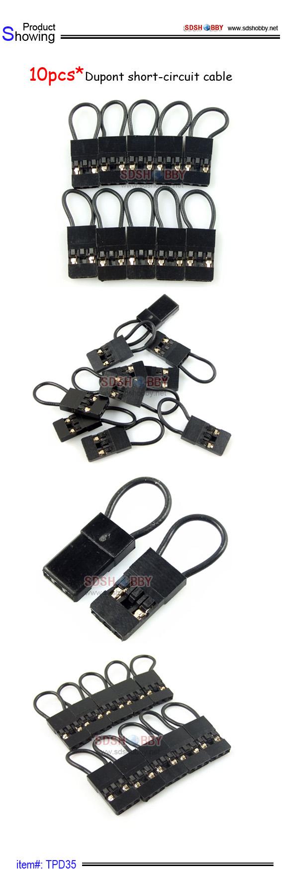 10pcs dupont short circuit cable battery plug connecters cable rh pinterest com