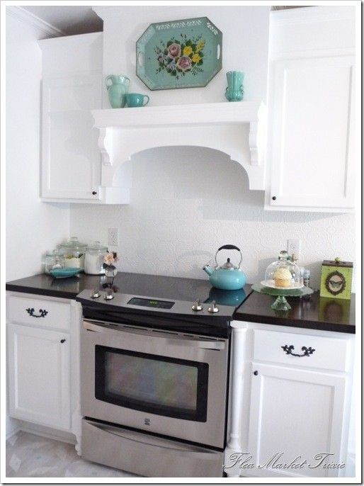 Cool Shelf To Cover Up The Ugly Exhaust Fan In The Kitchen?