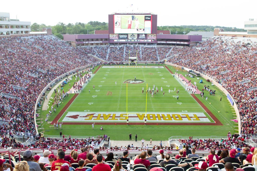 The Top 25 College Football Stadiums Football Stadiums Florida State Football College Football Rankings