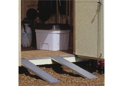 Best Metal Ramp Set With Images Shed Ramp Metal Shed Shed 400 x 300