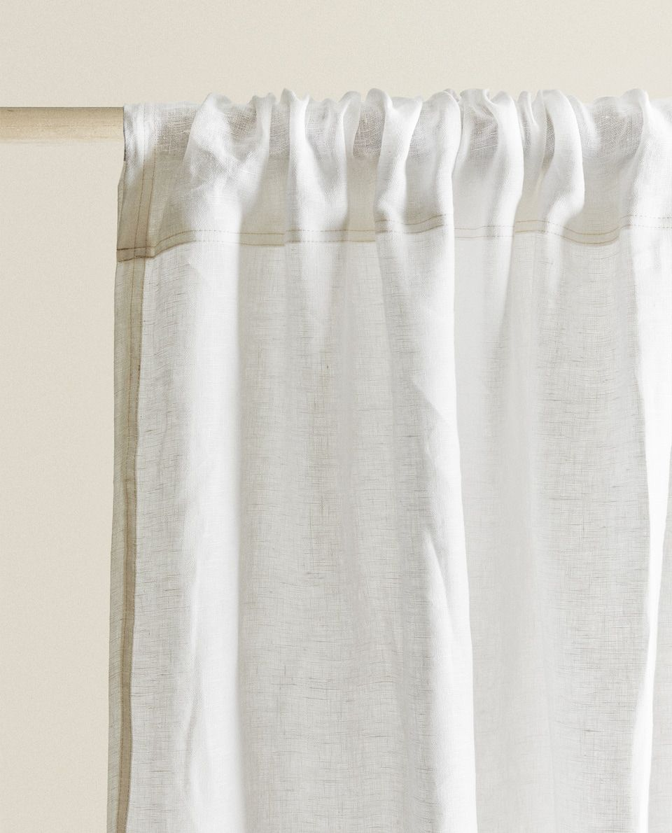 WASHED LINEN CURTAIN - CURTAINS - LIVING ROOM | Zara Home ...