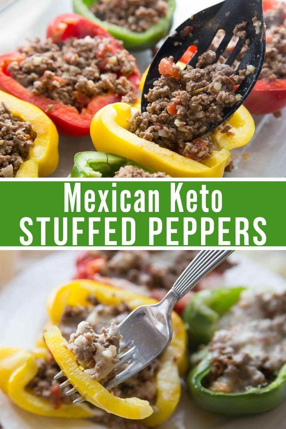 This Mexican Keto Stuffed Peppers Recipe Is Sure To Become A Family Favorite In Your Home It S Simple De Stuffed Peppers Keto Stuffed Peppers Peppers Recipes