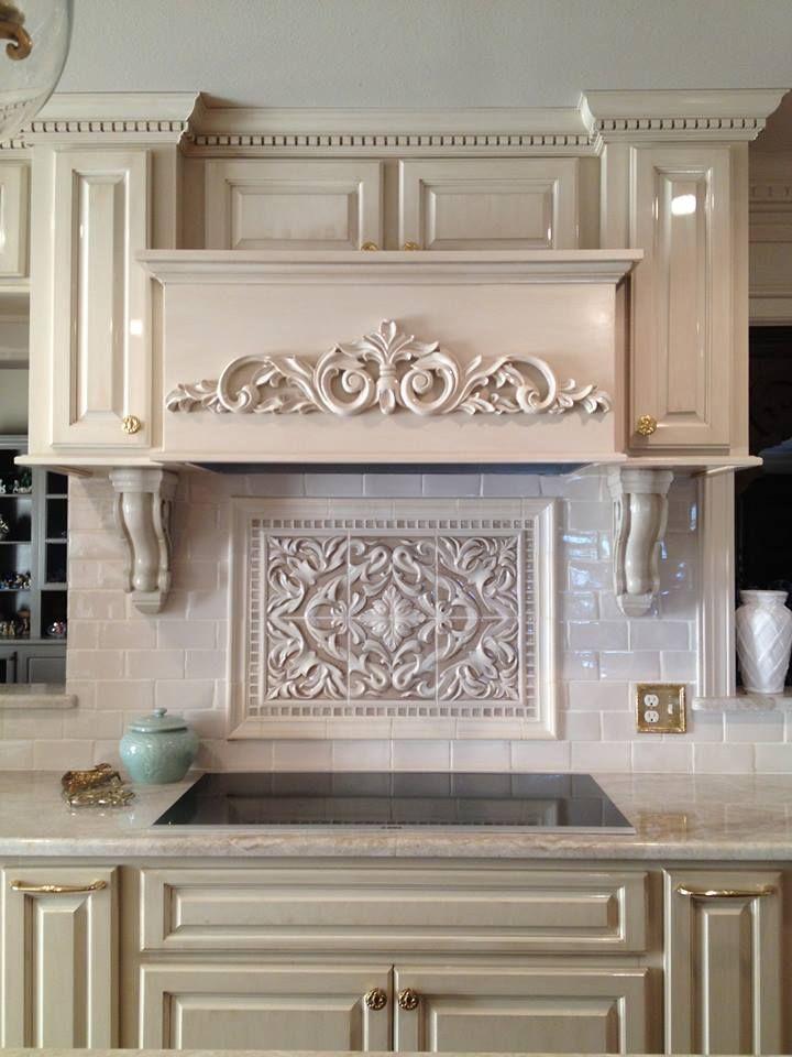 Encore Ceramics Cream Crackle Glaze |This Grace Plaque Backsplash Designed  By Palatial Stone U0026 Tile